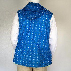 MCM Jackets & Coats - MCM Man Hooded Sweat Shirts White Logo T Blue DM4